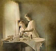 Chores at the Window by Kay Kempton Raade