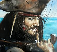 Jack Sparrow by Wayne Dowsent