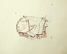 wrapped object (monotype) by donnamalone