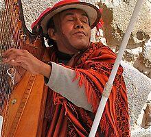 Peruvian Harpist by Escott O. Norton