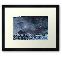 Lava Flow at Kalapana 9 Framed Print