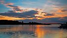 Smith's Lake, Forster Sunset by bazcelt