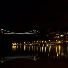 Clifton Suspension bridge at Night by Brian Roscorla