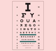 Hug Eye Chart (Clear back) by jefph