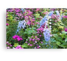 Symphony Of Flowers Canvas Print