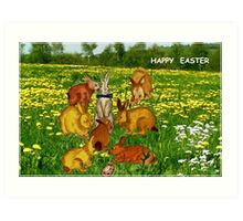 Happy Easter for Kids Art Print