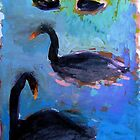 Black swans of Williamstown by Susan Wellington