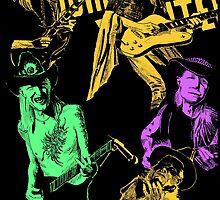 Johnny Winter slide guitar blues by Vince Larue