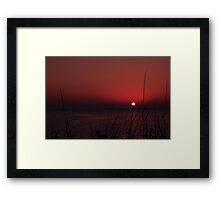 Sunrise after the Super Moon, As Is Framed Print
