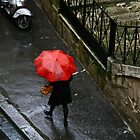Le Parapluie Rouge by Virginia Kelser Jones