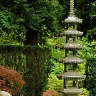 Very tall Japanese Lantern by Marjorie Wallace