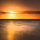 Atomic sunset, Crosby beach by Ian Moran