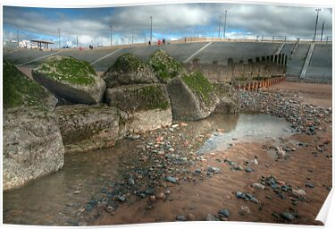 Rock Pool and Groyne by John Hare