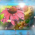 Flower shadowbox by ?? B. Randi Bailey