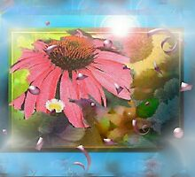 Flower shadowbox by ♥⊱ B. Randi Bailey