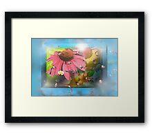 Flower shadowbox Framed Print