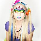 Bow Down to Your Rainbow Queen - Self Portrait by Bumzigana