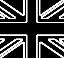 Black & White Union Flag by Nick Martin