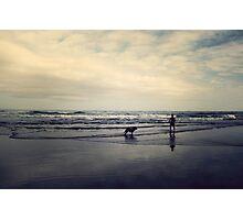Doggie Beach Fun II Photographic Print