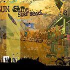 Sun shine surf beach by Adam Johnston