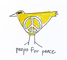 PEEPS FOR PEACE by Robin  Kenney King