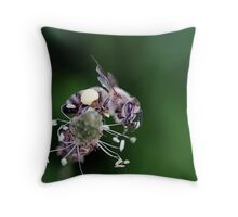 """ I Work Hard For My Honey "" Throw Pillow"