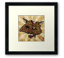 Zombie Cat Framed Print