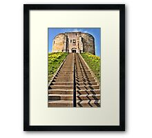 Clifford's Tower Symmetry Framed Print