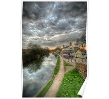 Moody Sunset At The Boat Inn Poster