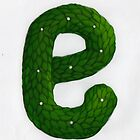 Topiary Alphabet &quot;e&quot; Coloured by Donnahuntriss