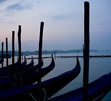 Gondolas In Venetian Blue by amyjgrigg