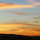 Walla Walla Windmills at Sunset by AdventureGuy