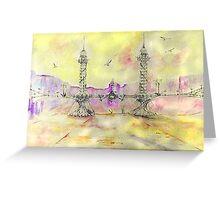 the art nouveau bridge Greeting Card