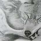 Sleeping Grey Wolf by Thesilentone