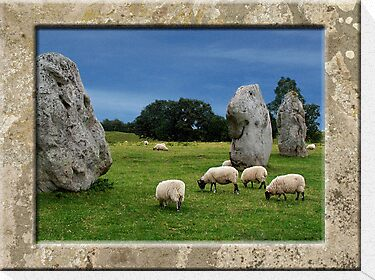 Avebury Circle in Stone by hootonles