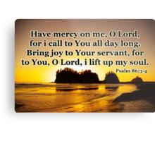 sunset gold prayer psalm Metal Print