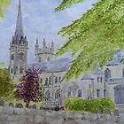 Llandaff Cathedral a Wedding Day  by dennysart