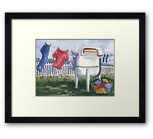 Wash Day Blues Framed Print