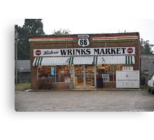 Route 66 - Wrink's Market Canvas Print