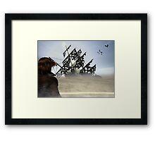 Black Rock Framed Print