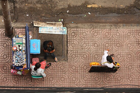 Street Vendors of Saigon by Timo Balk