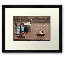 Street Vendors of Saigon Framed Print