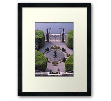 Formal Entrance, garden, Villa Carlotta, Lake Como , Italy. Framed Print