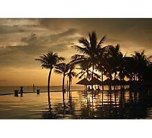 Beach Resort Sunrise Photographic Print