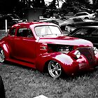 Red Hot Ford coupe by Ray Woledge