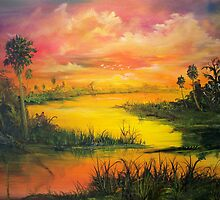Marsh Sunset by Harry Gray