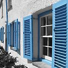 Blue Shutters- Cornwall by ahawkes