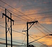 Sunset Power Lines by KathrynSylor