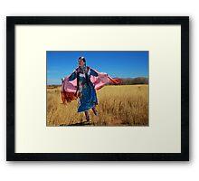 Dancing in a Field Framed Print