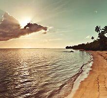 Pacific Island Sunset - Rarotonga Landscape by Cubagallery